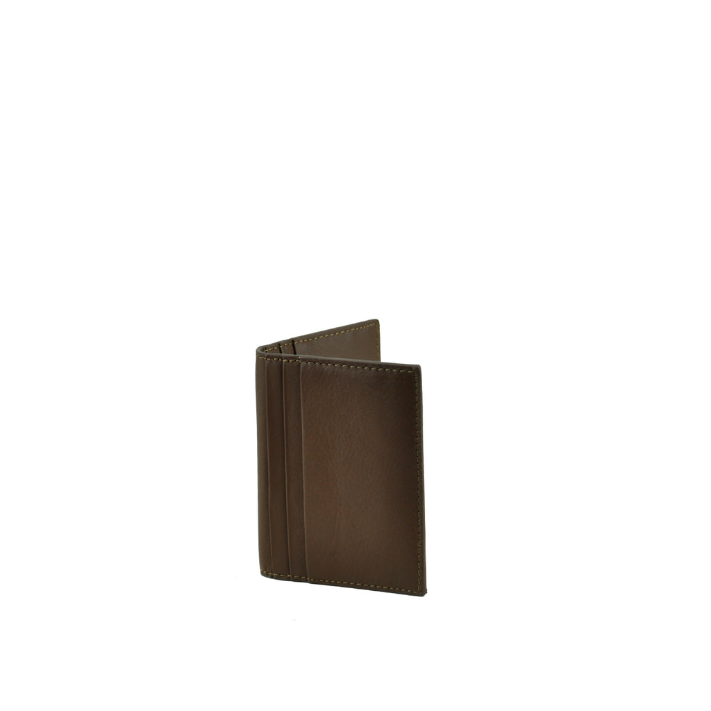 Cocoa Leather Card Holder - W763