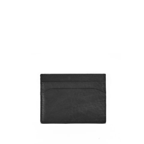 Black Bubble Sheep Leather Card Holder - W763