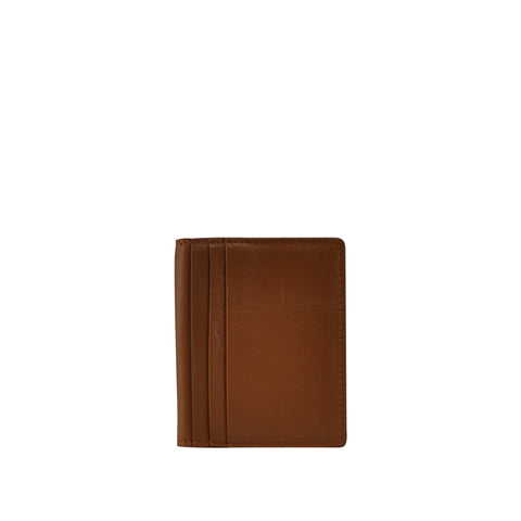 Tan Pebble Leather Card Holder - W763