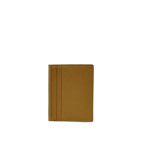 Camel Leather Card Holder - W763