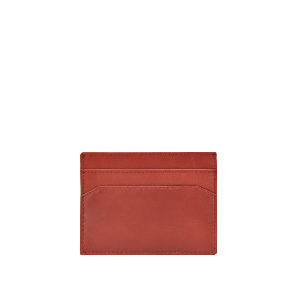 Persimmon Leather Credit Card Holder - W762