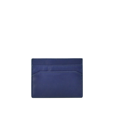 Ensign Blue Leather Card Holder - W762