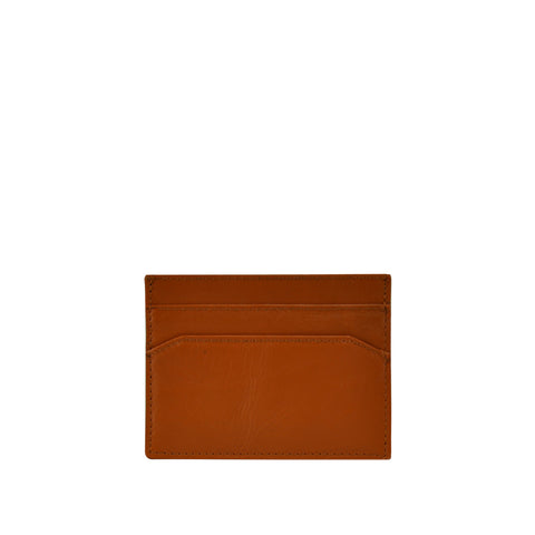 Tan Leather Card Holder - W762
