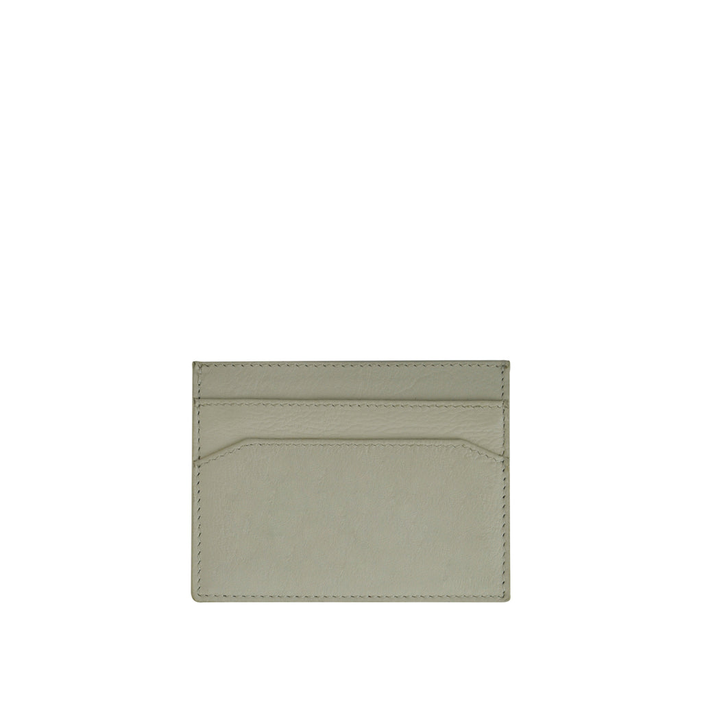 Off White Leather Card Holder - W762