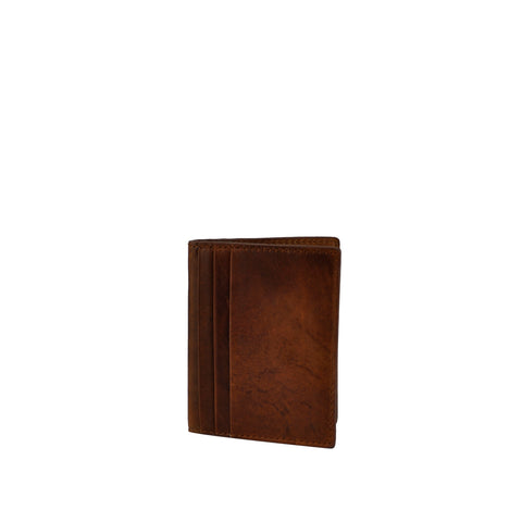 Tan Distressed Card Wallet - W763