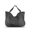 Black Washed Woven Leather Handbag - RAW002