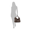 Brown Washed Woven Leather Handbag - RAW002
