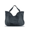 Dark Navy Washed Woven Leather Handbag - RAW002