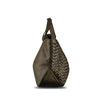 Shitake Washed Woven Leather Handbag - RAW002