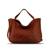 Summer Tan Washed Woven Leather Handbag - RAW002