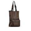 Brown Washed Leather Foldable Tote - RAW003