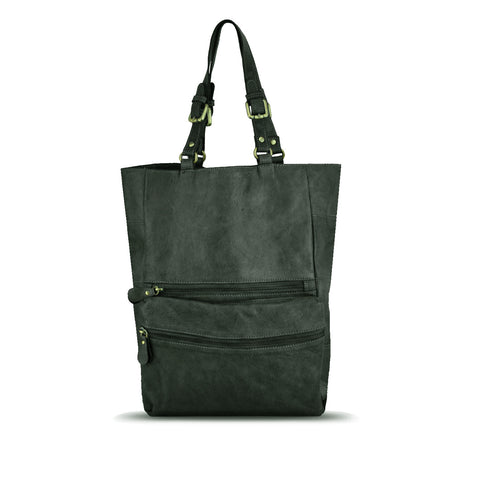 DarkSeaweed Washed Leather Foldable Tote - RAW003