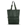 Dark Seaweed Washed Leather Foldable Tote - RAW003