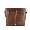 Tan Distressed Leather 3/4 Messenger - MA916