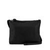 Black Double Zippered Crossbody - MA281