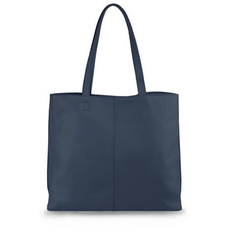 French Navy Leather Tote - MA282