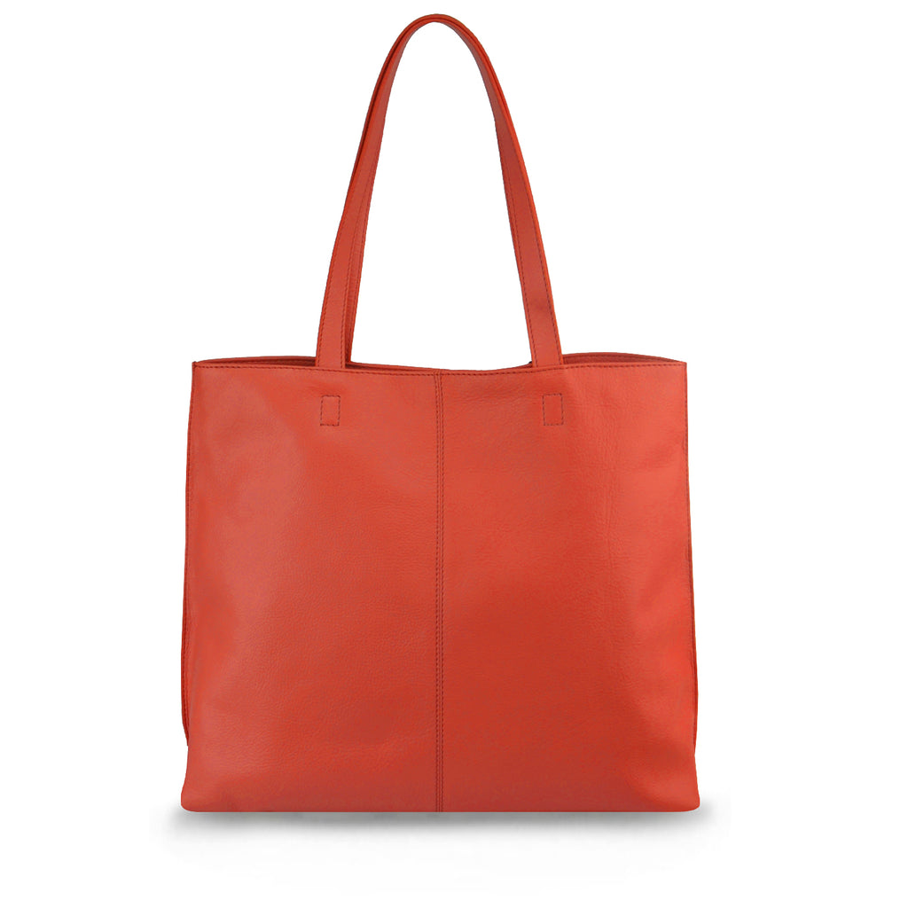 Red Leather Tote - MA282