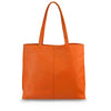 Orange Leather Tote - MA282