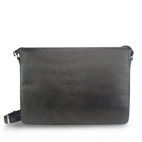 Black Nappa Leather Messenger - MA918
