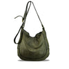 Turtle Green Washed Leather Crossbody - RAW009