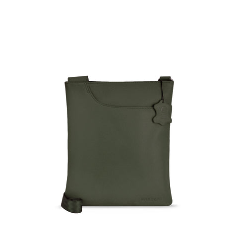 Olive Leather Crossbody - A128