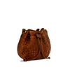 Summer Tan Washed Woven Drawstring / Shoulder Bag - RAW005
