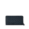 Dark Navy Washed Woven Leather Wallet - RAW008