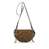 Mud Oak Washed Woven Leather Crossbody - RAW006