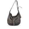 Crushed Flint Washed Leather Crossbody - RAW009