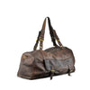 Burnt Chestnut Washed Leather Mens Travel Bag - RAW010