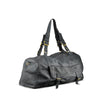 Ghost Grey Washed Leather Mens Travel Bag - RAW010
