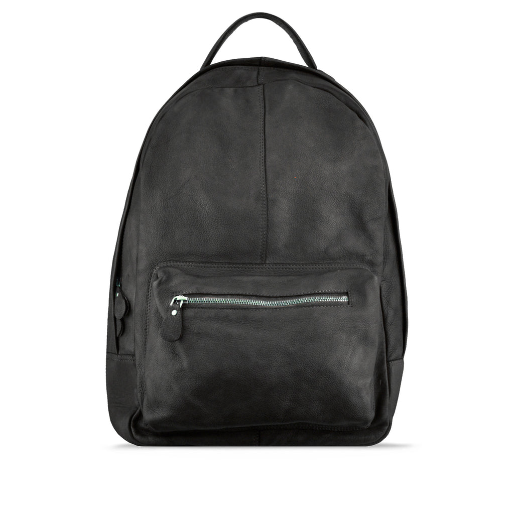 Peppercorn Washed Leather Backpack - RAW012