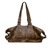 Burnt Chesnut Washed Leather Duffle Bag - RAW015