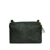 Dark Seaweed Washed Leather Crossbody - RAW016