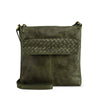 Turtle Green Washed Leather Crossbody - RAW017