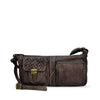 Wisteria Washed Leather Zippered Crossbody - RAW018