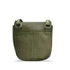Turtle Green Washed Leather Crossbody - RAW019