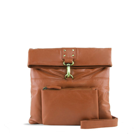 Tan Leather Crossbody - A202
