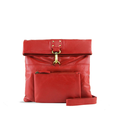 Red Leather Crossbody - A202