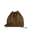 Mud Oak Washed Leather Drawstring / Shoulder Bag - RAW020