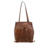 Summer Tan Washed Leather Hobo / Shoulder Bag - RAW021