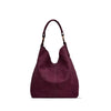 Tibetian Red Washed Leather Shoulder Bag - RAW022