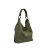 Turtle Green Washed Leather Shoulder Bag - RAW022