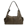 Shitake Washed Leather Handbag - RAW024
