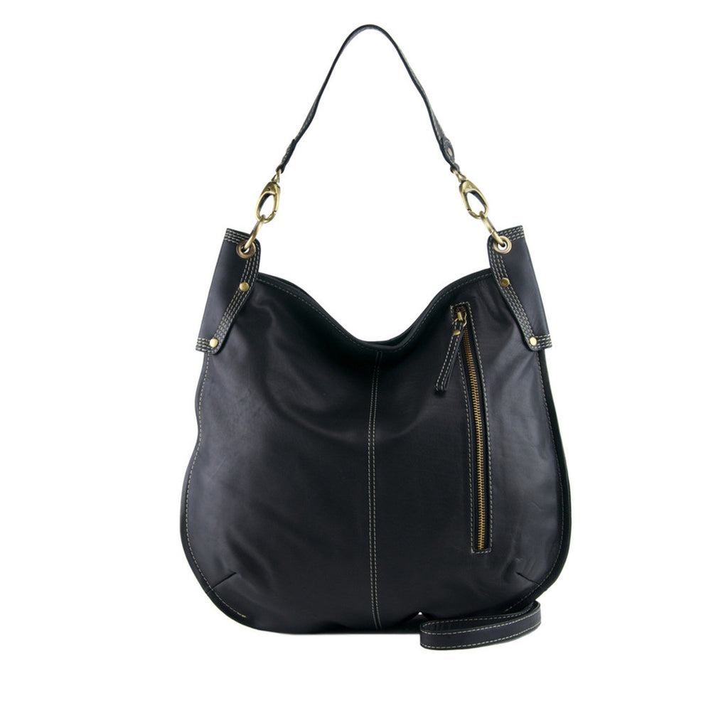 Black Leather Crossbody / Shoulder Bag - A133 Black