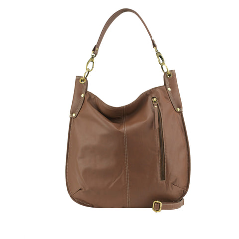 Cocoa Leather Crossbody / Shoulder Bag - A133
