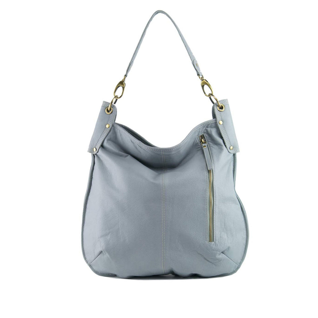 Light Blue Leather Crossbody / Shoulder Bag - A133