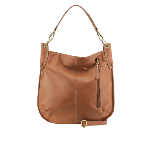Tan Leather Crossbody / Shoulder Bag - A133