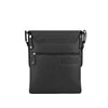 Black Leather Crossbody - A192