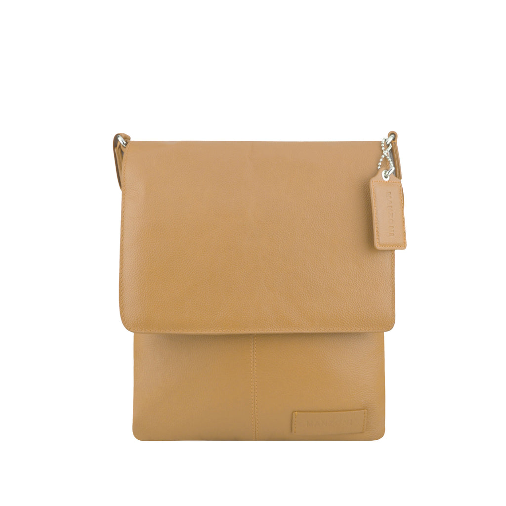 Camel Leather Crossbody - A192